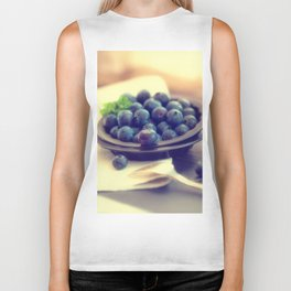 Blueberry plate Biker Tank