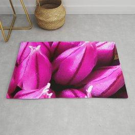 Pink Floral Buds Rug
