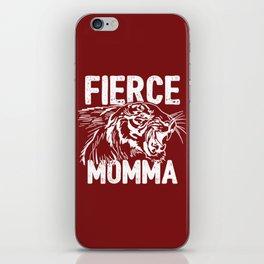 Fierce Momma / Red iPhone Skin