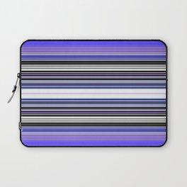 Bright bold Blue And Purple Stripe Laptop Sleeve