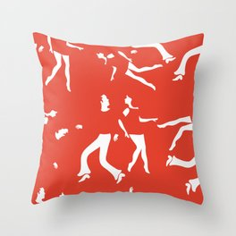 Funky couples dancing Throw Pillow