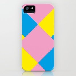Cool polygons, and squares, and things that looks 3d but they aren't, and tiny mistakes in R corner. iPhone Case