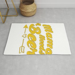 Mama Needs Beer Mothers Day Mom Gifts Rug