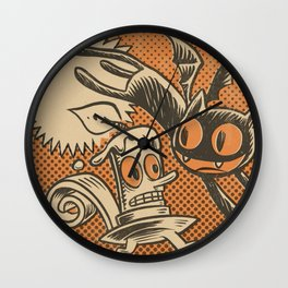 Bat Cat and Candle Wall Clock