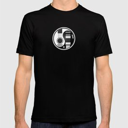 White and Black Acoustic Electric Yin Yang Guitars T-shirt