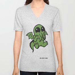 Cute Cthulu  Unisex V-Neck
