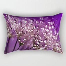 Violet Dewdrops Rectangular Pillow