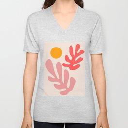 Henri Matisse - Leaves - Blush Unisex V-Neck