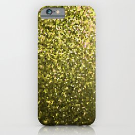 Mosaic Sparkley Texture Gold G188 iPhone Case