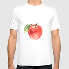 Apple White MEDIUM Mens Fitted Tee