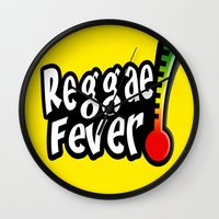 reggae Wall Clocks featuring Reggae Fever by Marvin Porcher