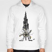 wiz khalifa Hoodies featuring Burj Khalifa by sladja
