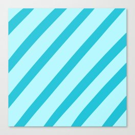 Minty Stripes Canvas Print