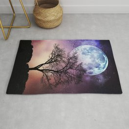 Moon and Tree Rug