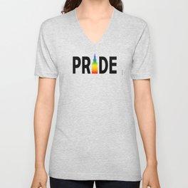 Cleveland LGBTQ Pride Terminal Tower Unisex V-Neck