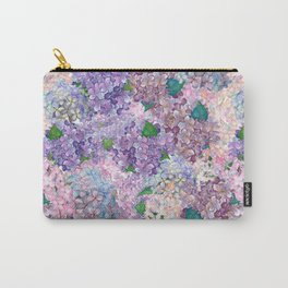 Purple and blue Lilac & Hydrangea - Flower Design Carry-All Pouch