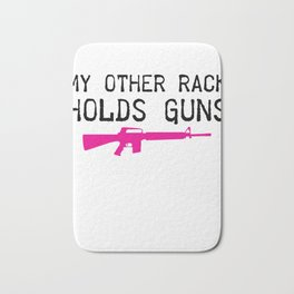 Gun prints - Gun Owner graphics - 2nd Amendment products design Bath Mat