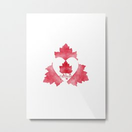 Red White And Canadian Metal Print