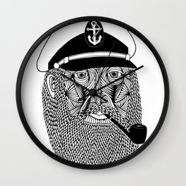 Captain Monkey Pants Of The Sea Wall Clock