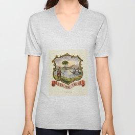 Historic Florida Coat of Arms, 1876 Unisex V-Neck