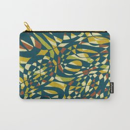 Tropical Color in blue 1950 Carry-All Pouch