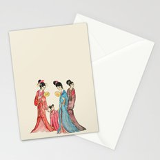 Ancient Chinese ladies painting Stationery Cards
