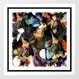 Fairies and Butterflies Communing With Nature Art Print