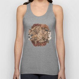 Flowers and Moths Unisex Tank Top