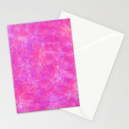 Pink and Purple Dots Stationery Cards