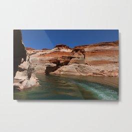 Antelope Canyon On Lake Powell Metal Print