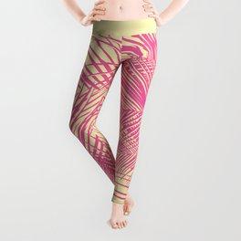 Palm Leaves, Pink Leggings