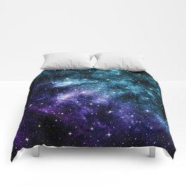Teal Purple Galaxy Nebula Dream #1 #decor #art #society6 Comforters