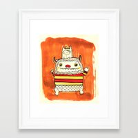 wild things Framed Art Prints featuring Wild things by Maria Jose Da Luz