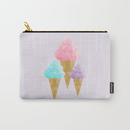 Geometric Ice Cream Carry-All Pouch