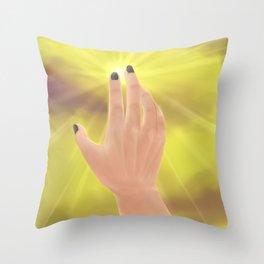 Simplistic Semi Realistic Hand Throw Pillow