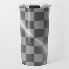 Bright Polished Titanium Metal Chess Board Travel Mug