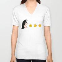 goku V-neck T-shirts featuring Goku by Pac-Mods