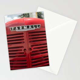 Vintage Farmall M Grill Antique Red Tractor Stationery Cards