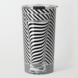 Striped Water Travel Mug
