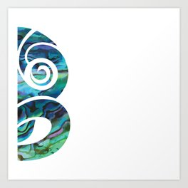 Tiki White Art Print