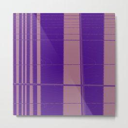 From narrow tiles to wider tiles abstract design Metal Print