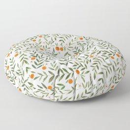 Oranges Foliage Floor Pillow