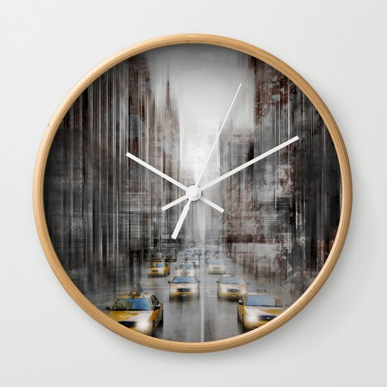 City-Art NYC 5th Avenue Traffic Wall Clock