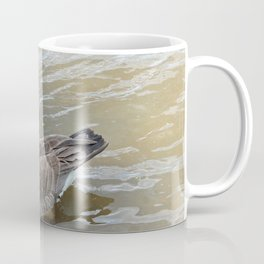 Canadian Goose Swimming in the River Coffee Mug