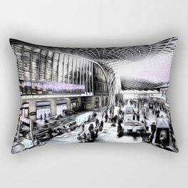 Kings Cross Station London Art Rectangular Pillow