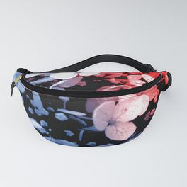 Red and blue effects on hydrangea Fanny Pack