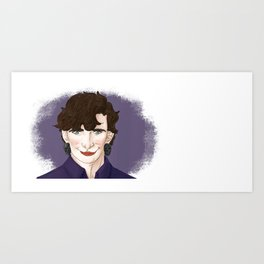 Non-binary Sherlock (Left-hander vr). Art Print