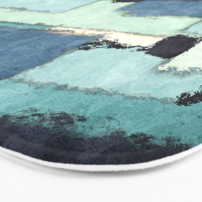 Layers of Colors Pattern Bath Mat