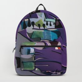 The New Planet- Fantasy Abstract Texture Collage Backpack