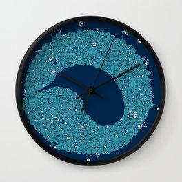 Dark kiwis Wall Clock
